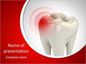Toothache 3d concept PowerPoint Template