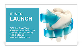 Teeth protection 3d concept Business Card Template