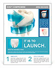 Teeth protection 3d concept Flyer Template