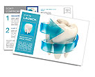 Teeth protection 3d concept Postcard Template