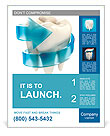 Teeth protection 3d concept Poster Template