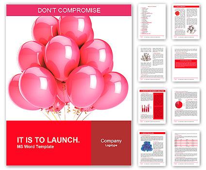 Pink Balloons Romantic Love Party Decoration Happy Birthday