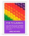 Colorful balloons. Graduation Rainbow theme Ad Templates