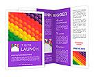 Colorful balloons. Graduation Rainbow theme Brochure Templates
