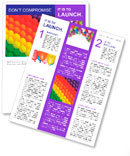 Colorful balloons. Graduation Rainbow theme Newsletter Templates