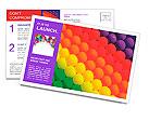 Colorful balloons. Graduation Rainbow theme Postcard Template