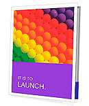 Colorful balloons. Graduation Rainbow theme Presentation Folder