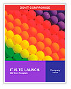 Colorful balloons. Graduation Rainbow theme Word Templates