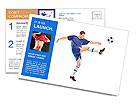A soccer player shooting a ball isolated on white background Postcard Templates