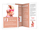 Beautiful young and sexy woman on white Brochure Templates