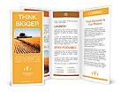 Combine harvester Brochure Templates
