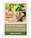 Books in the summer garden Ad Template