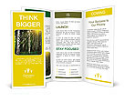 Sun rays in a forest. Brochure Templates