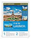 Eiffel tower Flyer Templates