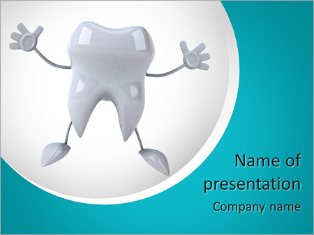 tooth powerpoint template & backgrounds id 0000010417, Modern powerpoint