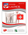 Men with medical case and tooth. Dentist. 3d Flyer Template