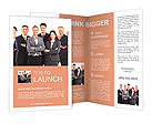 Group of business people team. Isolated over white background Brochure Templates