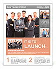 Group of business people team. Isolated over white background Flyer Template