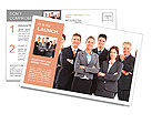 Group of business people team. Isolated over white background Postcard Template