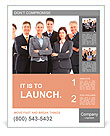 Group of business people team. Isolated over white background Poster Template