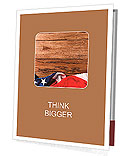 Flapping flag USA with wave Presentation Folder