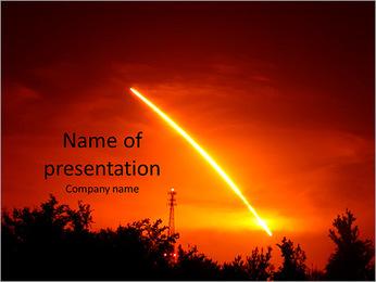Lancement de la navette spatiale de nuit de découverte. Modèles des présentations  PowerPoint