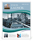 Oil and gas heavy industry Flyer Templates