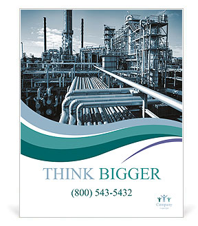 Oil and gas heavy industry Poster Template & Design ID 0000010435 ...