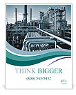 Oil and gas heavy industry Poster Templates
