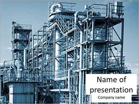 oil and gas heavy industry powerpoint template & backgrounds id, Presentation templates