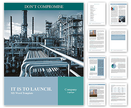 Oil And Gas Heavy Industry Word Templates  Microsoft Word Templates For Brochures