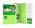 Family playing on green grass Brochure Template
