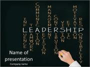 Business hand writing leadership skill PowerPoint Templates