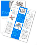 Support crossword puzzle on a white background Newsletter Template