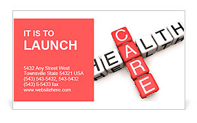 Health Care concept Business Card Template