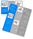 Crossword business plan on a white background Newsletter Template