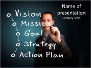 Empresario escrito concepto de negocio Plantillas de Presentaciones PowerPoint