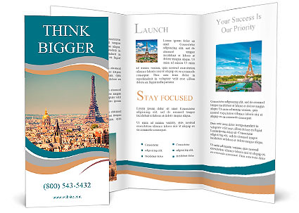 Eiffel Tower In Paris Brochure Template Amp Design Id