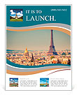 Eiffel Tower in Paris Flyer Templates