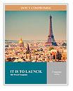 Eiffel Tower in Paris Word Template