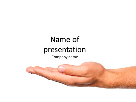 Man hand sign isolated on white background PowerPoint Template ...
