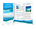 Calm sea and blue clouds Brochure Template
