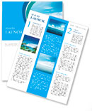 Calm sea and blue clouds Newsletter Template