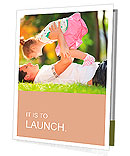 Father playing with his daughter in the park Presentation Folder