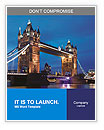 Tower Bridge in the evening Word Templates
