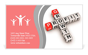 Crossword of the word profit Business Card Template
