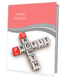 Crossword of the word profit Presentation Folder
