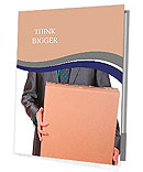 Businessman holding a box Presentation Folder