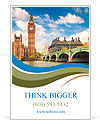 Big Ben in London Ad Templates