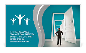 The man opened the doors Business Card Template